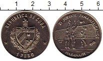Изображение Монеты Куба 1 песо 1990 Медно-никель UNC- Панамериканские игры
