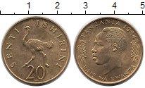 Изображение Монеты Африка Танзания 20 сенти 1984 Латунь UNC-