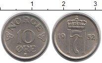 Изображение Монеты Норвегия 10 эре 1952 Медно-никель XF