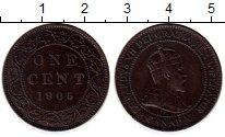 Изображение Монеты Канада 1 цент 1905 Медь XF