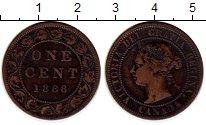 Изображение Монеты Канада 1 цент 1888 Медь XF Виктория