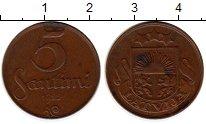 Изображение Монеты Европа Латвия 5 сантим 1922 Медь XF