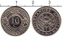 Изображение Монеты Антильские острова 10 центов 2004 Медно-никель UNC- Флора