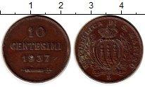 Изображение Монеты Сан-Марино 10 сентесим 1937 Медь XF