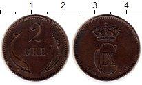 Изображение Монеты Дания 2 эре 1891 Медь XF
