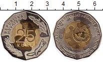Изображение Монеты Хорватия 25 кун 2017 Биметалл UNC