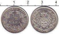 Изображение Монеты Германия 1/2 марки 1913 Серебро XF A