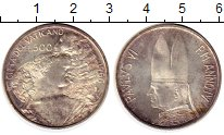 Изображение Монеты Европа Ватикан 500 лир 1966 Серебро XF