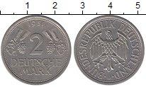 Изображение Монеты ФРГ 2 марки 1951 Медно-никель XF