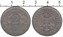 Изображение Монеты Германия ФРГ 2 марки 1951 Медно-никель XF