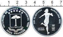 Изображение Монеты Африка Экваториальная Гвинея 7000 франков 1992 Серебро Proof-