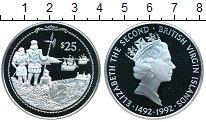 Изображение Монеты Северная Америка Виргинские острова 25 долларов 1992 Серебро Proof