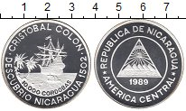 Изображение Монеты Северная Америка Никарагуа 10000 кордобас 1989 Серебро Proof