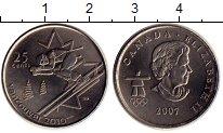 Изображение Монеты Северная Америка Канада 25 центов 2007 Медно-никель UNC
