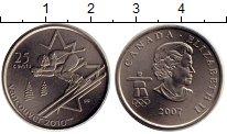 Изображение Монеты Канада 25 центов 2007 Медно-никель UNC Олимпийские игры в В