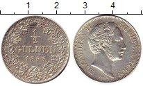 Изображение Монеты Бавария 1/2 гульдена 1863 Серебро XF Максимилиан II