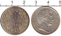 Изображение Монеты Бавария 1/2 гульдена 1845 Серебро XF Людвиг I