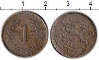 Изображение Монеты Европа Финляндия 1 марка 1938 Медно-никель XF
