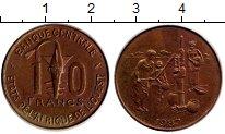 Изображение Монеты Африка Французская Западная Африка 10 франков 1987 Латунь XF