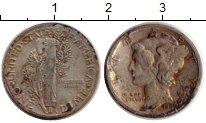 Изображение Монеты Северная Америка США 1 дайм 1936 Серебро VF