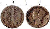 Изображение Монеты США 1 дайм 1937 Серебро VF