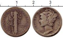 Изображение Монеты США 1 дайм 1939 Серебро VF