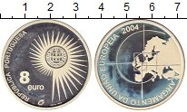 Изображение Монеты Португалия 8 евро 2004 Серебро Proof-