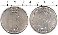 Изображение Монеты Бельгия 250 франков 1976 Серебро UNC- Серебряный юбилей пр
