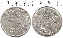 Изображение Монеты Бельгия 500 франков 1980 Посеребрение UNC-