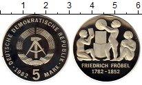 Изображение Монеты ГДР 5 марок 1982 Медно-никель Proof-