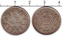 Изображение Монеты Европа Германия 1/2 марки 1915 Серебро XF