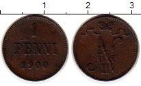 Изображение Монеты Финляндия 1 пенни 1900 Медь XF