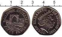 Изображение Монеты Остров Джерси 50 пенсов 2012 Медно-никель UNC-