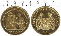 Изображение Монеты Сьерра-Леоне 10 долларов 2006 Серебро UNC-