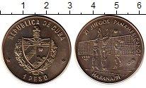 Изображение Монеты Северная Америка Куба 1 песо 1990 Медно-никель UNC-