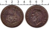 Изображение Монеты Африка ЮАР 5 шиллингов 1948 Серебро XF