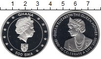 Изображение Монеты Гана 500 сика 2002 Серебро Proof
