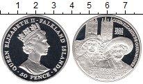 Изображение Монеты Великобритания Фолклендские острова 50 пенсов 2002 Серебро Proof