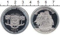 Изображение Монеты Африка Кот-д`Ивуар 1000 франков 2011 Серебро Proof-