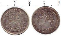 Изображение Монеты Великобритания 6 пенсов 1824 Серебро XF