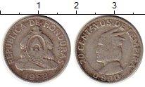 Изображение Монеты Гондурас 20 сентаво 1952 Серебро XF