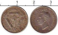 Изображение Монеты ЮАР 3 пенса 1942 Серебро XF