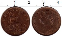 Изображение Монеты Великобритания 1 фартинг 1890 Бронза XF+