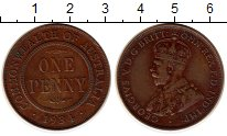Изображение Монеты Австралия 1 пенни 1934 Бронза XF