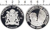Изображение Монеты Малави 10 квач 2003 Серебро Proof