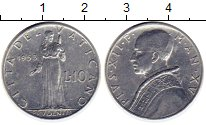 Изображение Монеты Европа Ватикан 10 лир 1953 Алюминий XF