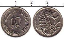 Изображение Монеты Сингапур 10 центов 1981 Медно-никель UNC-