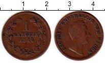 Изображение Монеты Германия Баден 1 крейцер 1844 Медь VF
