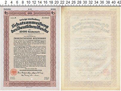 Изображение Банкноты Веймарская республика 200000 марок 1935  XF