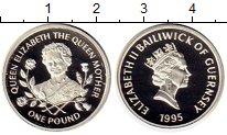 Изображение Монеты Гернси 1 фунт 1995 Серебро Proof Елизавета II.  Корол
